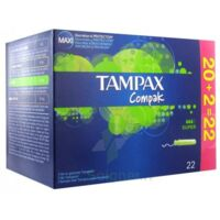 TAMPAX COMPAK, super, bt 22 à Saint Priest