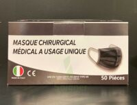 Masque Chirurgical Noir Type Iir  Norme 14683:2019 B/50 à Saint Priest