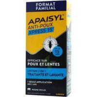Apaisyl Anti-poux Xpress 15' Lotion antipoux et lente 100ml+peigne à Saint Priest